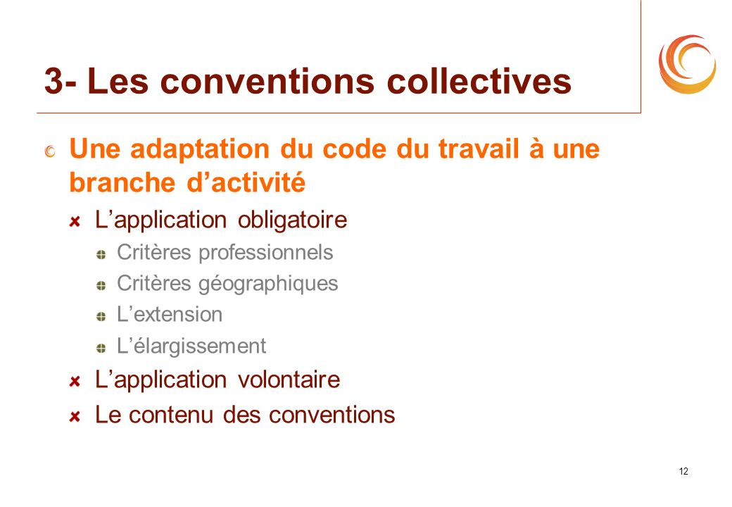3- Les conventions collectives