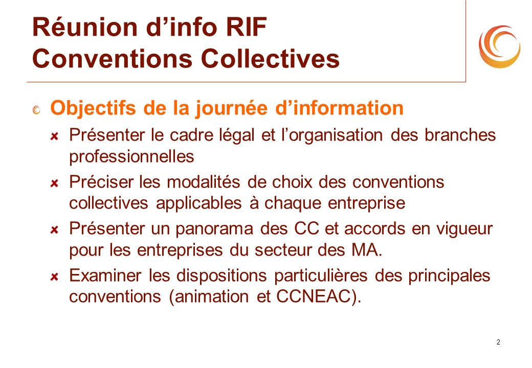 Réunion d'info RIF Conventions Collectives