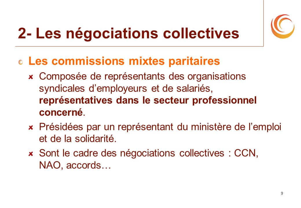 2- Les négociations collectives