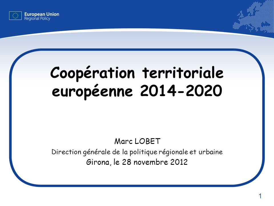 Coopération territoriale européenne 2014-2020