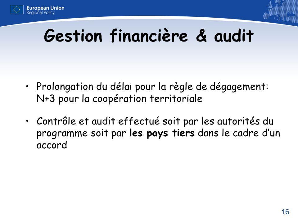 Gestion financière & audit