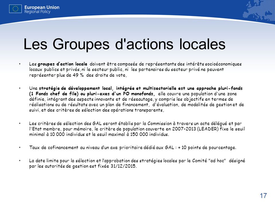 Les Groupes d actions locales