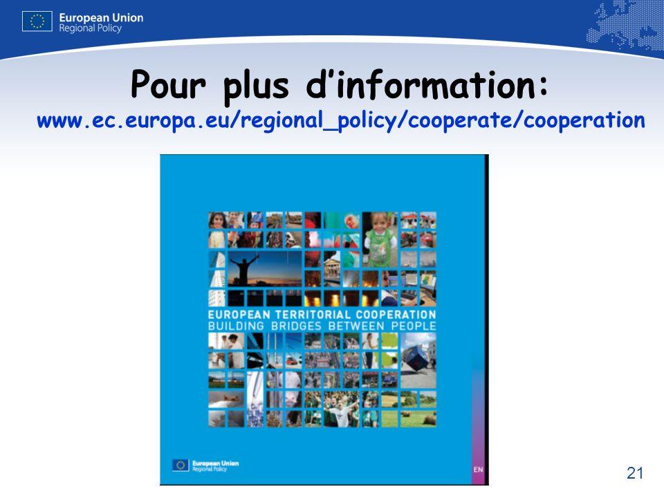 Pour plus d'information: www. ec. europa