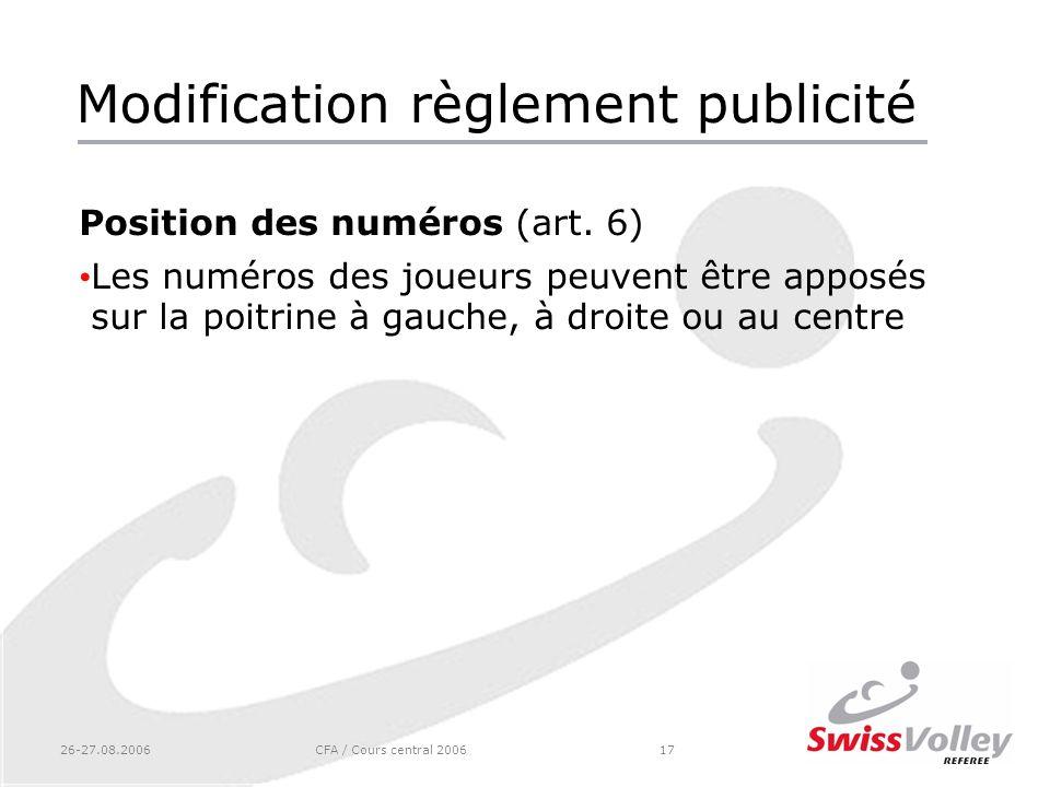 Modification règlement publicité