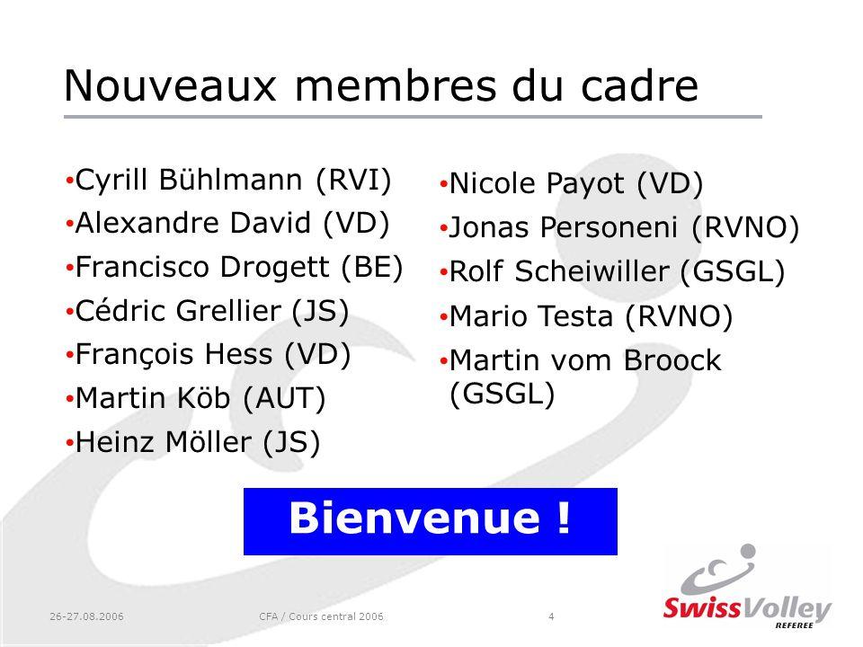 Nouveaux membres du cadre