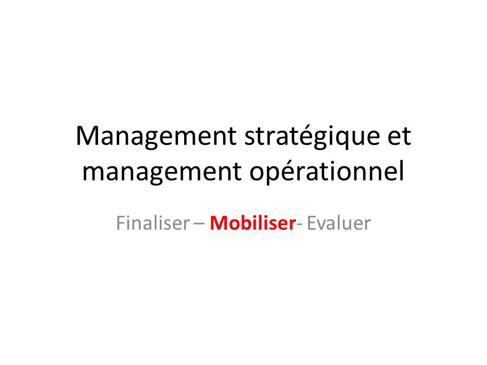 Management stratégique et management opérationnel