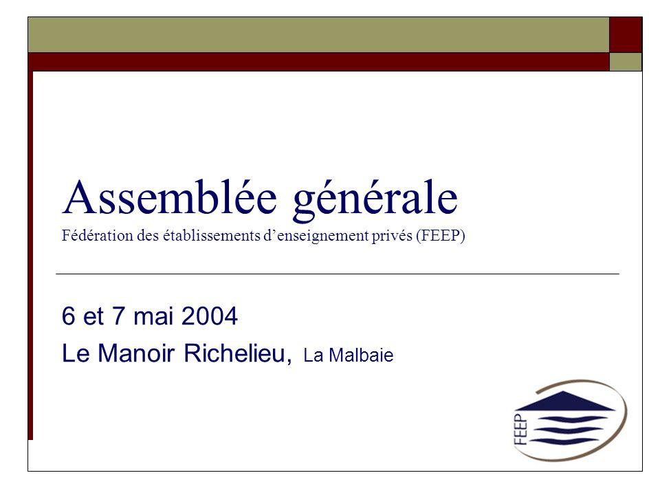 6 et 7 mai 2004 Le Manoir Richelieu, La Malbaie