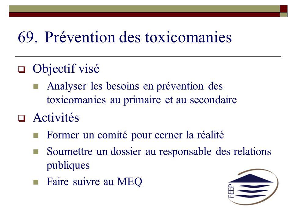 Prévention des toxicomanies