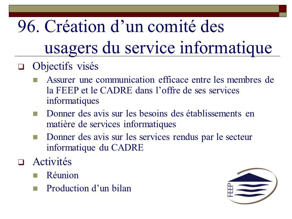 Création d'un comité des usagers du service informatique