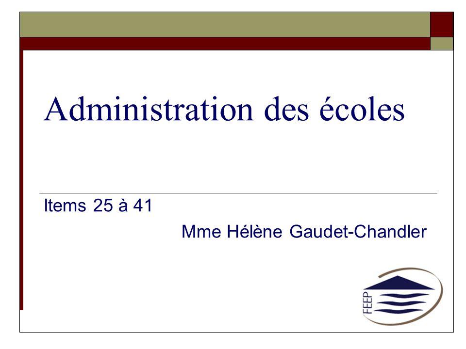 Administration des écoles
