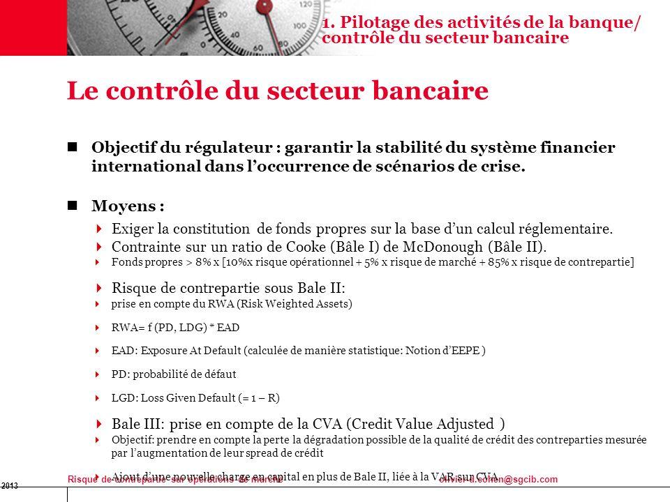 Le contrôle du secteur bancaire
