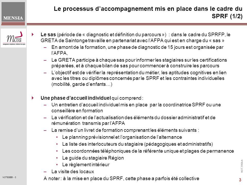 Le processus d'accompagnement mis en place dans le cadre du SPRF (1/2)
