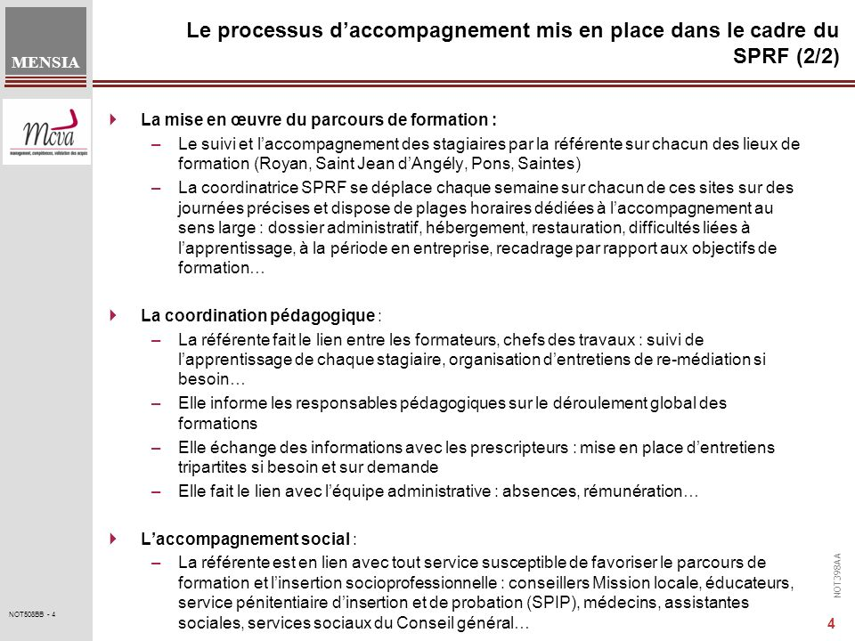 Le processus d'accompagnement mis en place dans le cadre du SPRF (2/2)