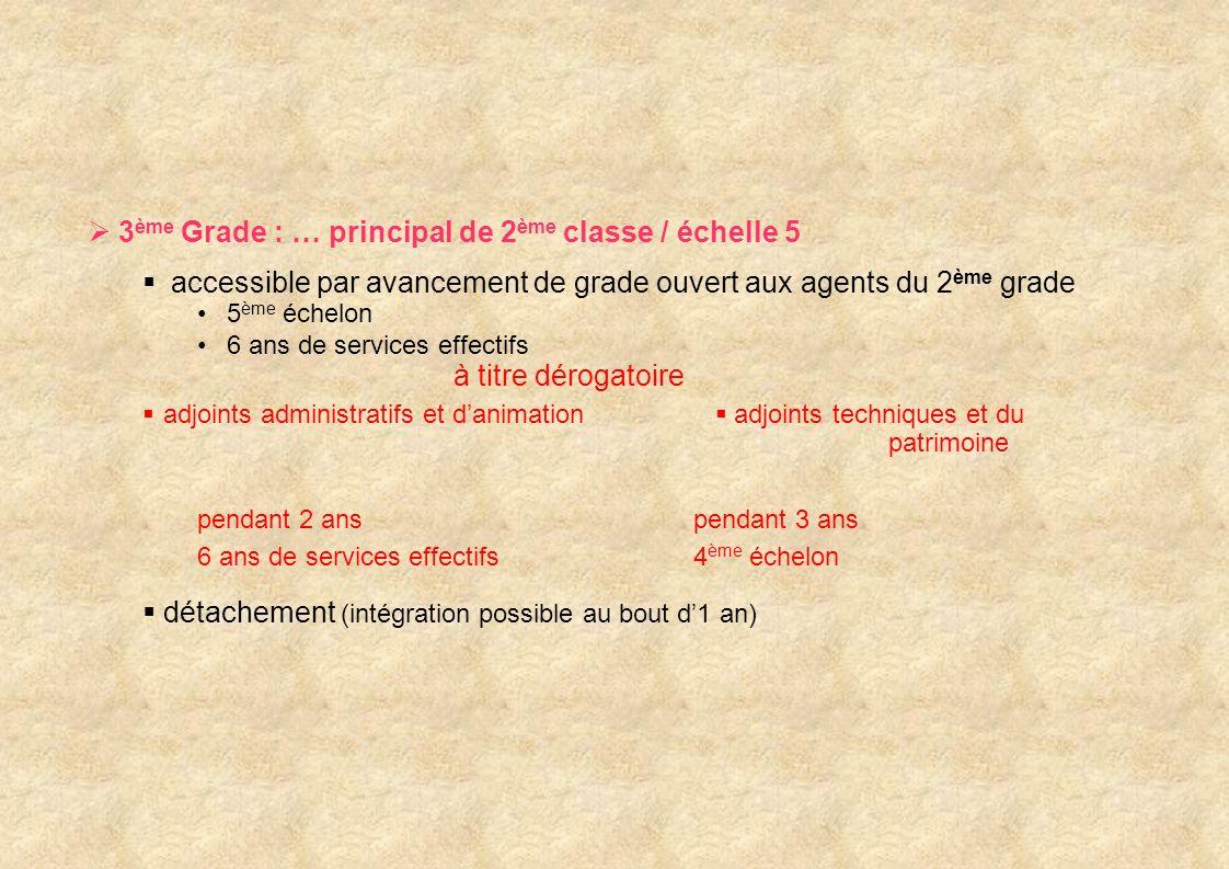 3ème Grade : … principal de 2ème classe / échelle 5