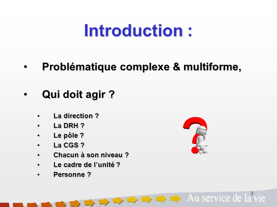 Introduction : Problématique complexe & multiforme, Qui doit agir