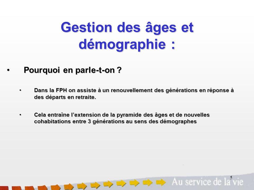 Gestion des âges et démographie :