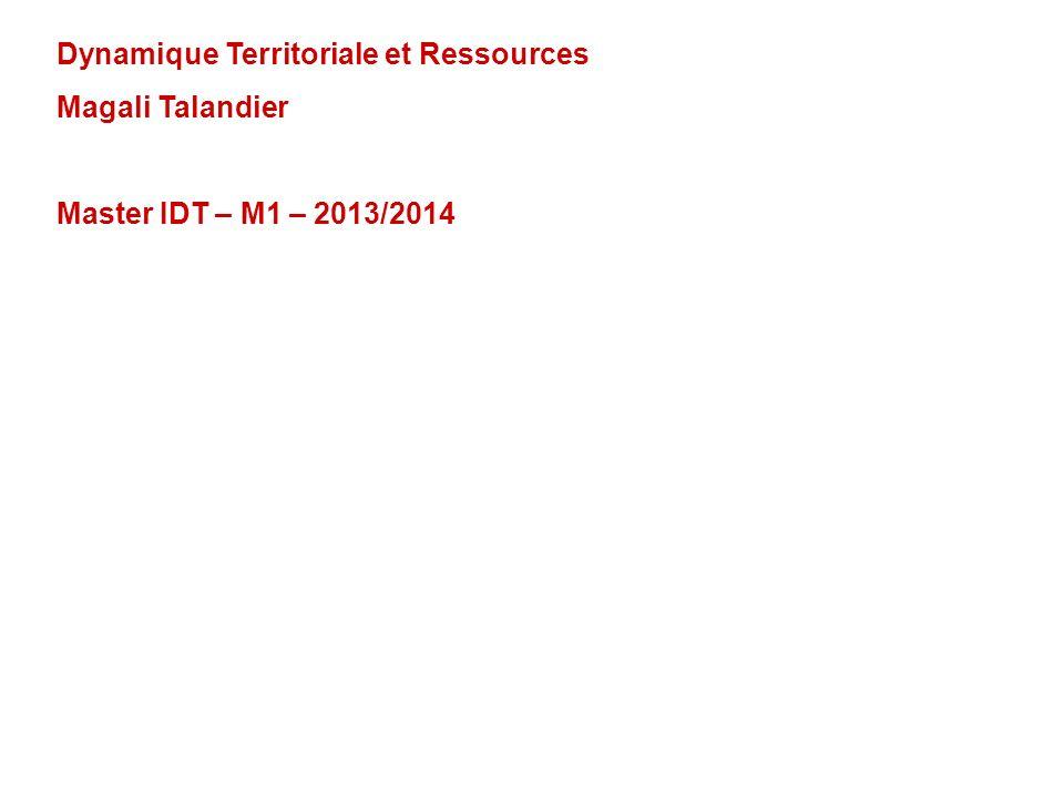 Dynamique Territoriale et Ressources