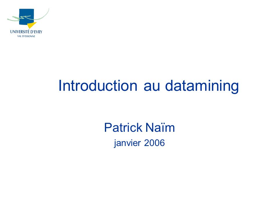 Introduction au datamining