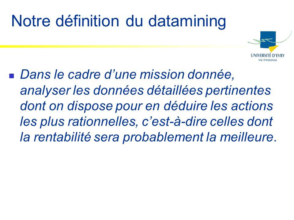 Notre définition du datamining