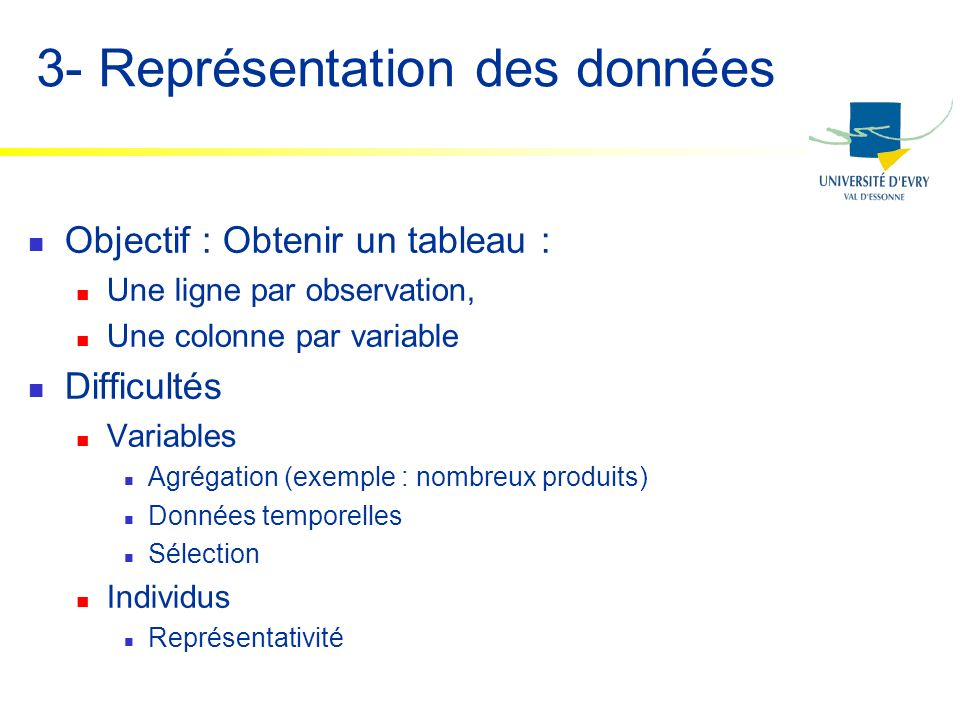 3- Représentation des données