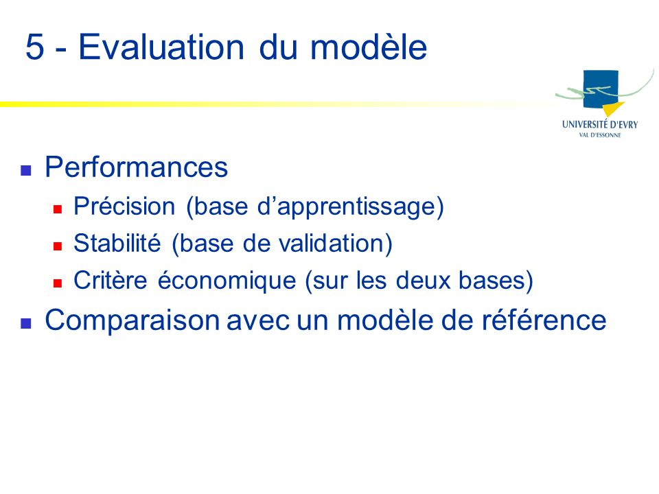 5 - Evaluation du modèle Performances