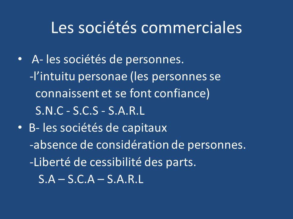 Les sociétés commerciales
