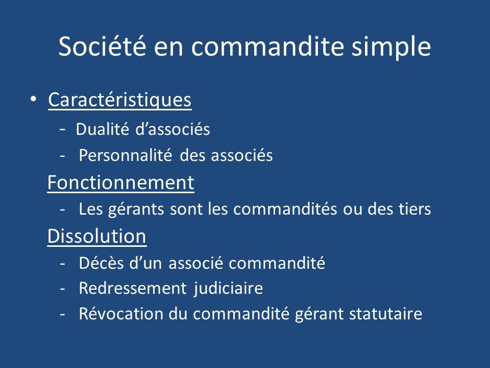 Société en commandite simple