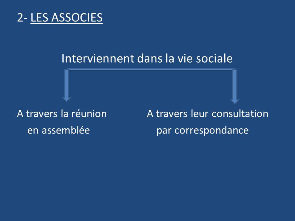 Interviennent dans la vie sociale