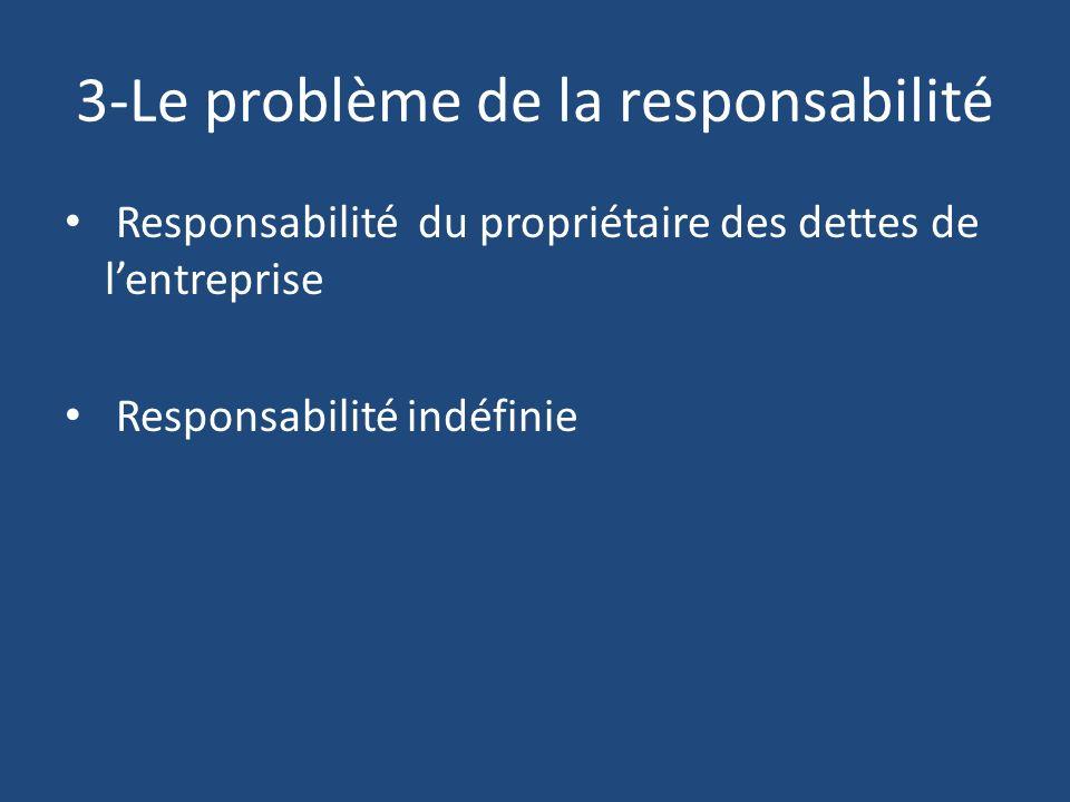 3-Le problème de la responsabilité