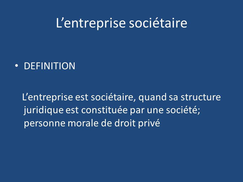 L'entreprise sociétaire