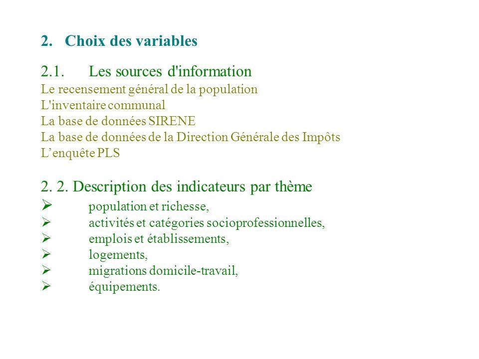 2.1. Les sources d information