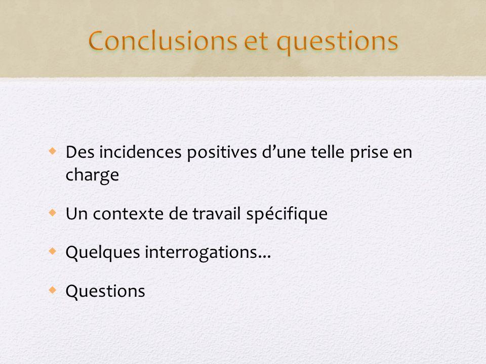 Conclusions et questions