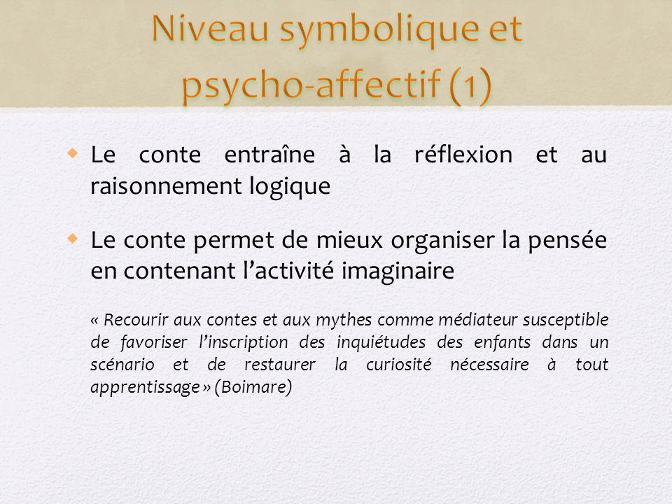 Niveau symbolique et psycho-affectif (1)