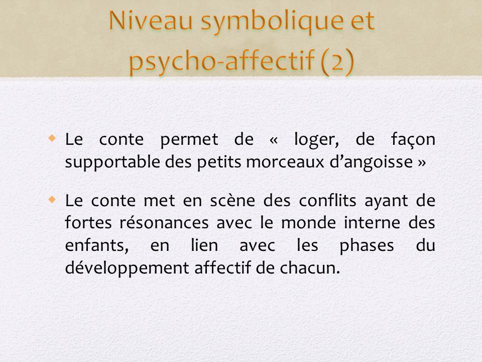 Niveau symbolique et psycho-affectif (2)