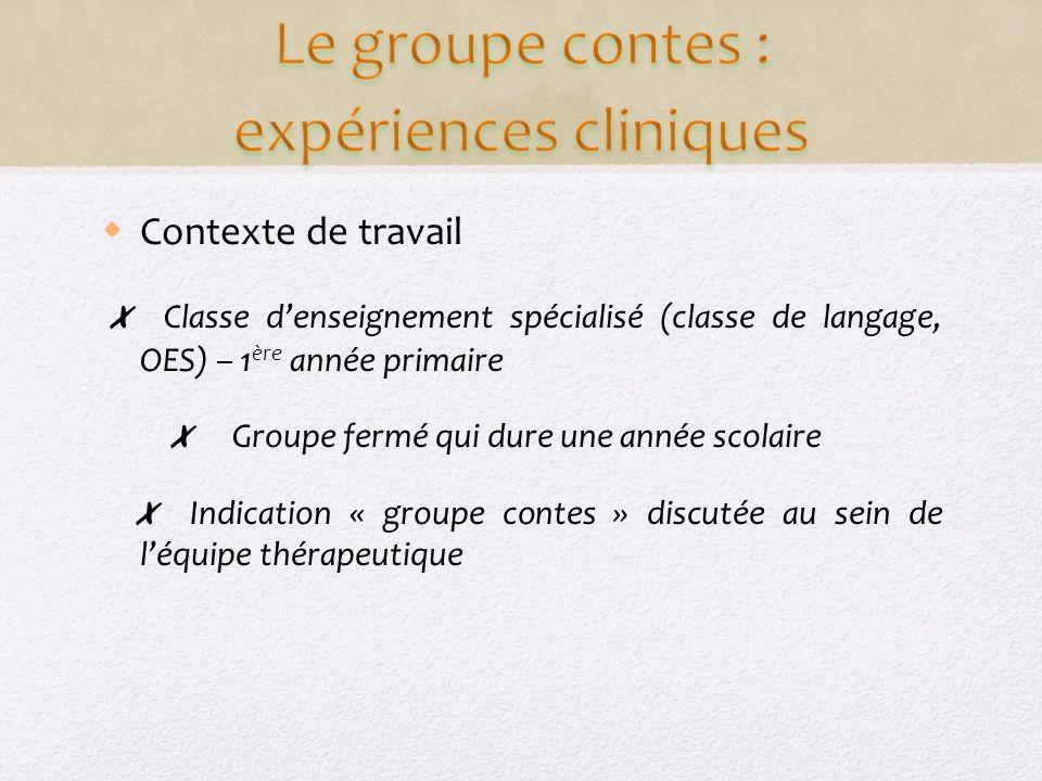 Le groupe contes : expériences cliniques