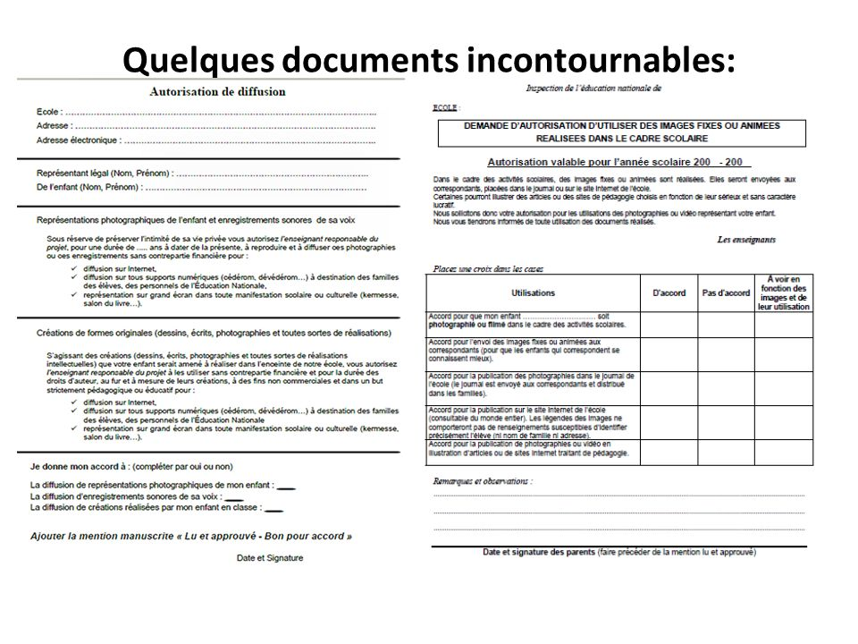 Quelques documents incontournables:
