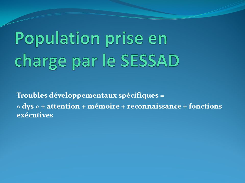 Population prise en charge par le SESSAD