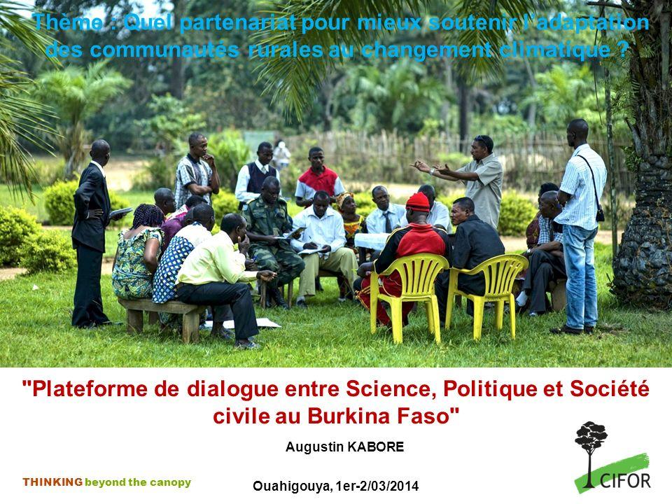 Thème : Quel partenariat pour mieux soutenir l'adaptation des communautés rurales au changement climatique