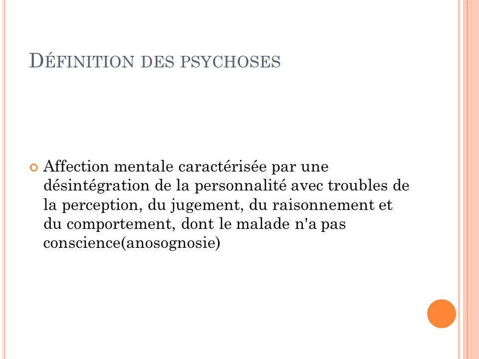 Définition des psychoses