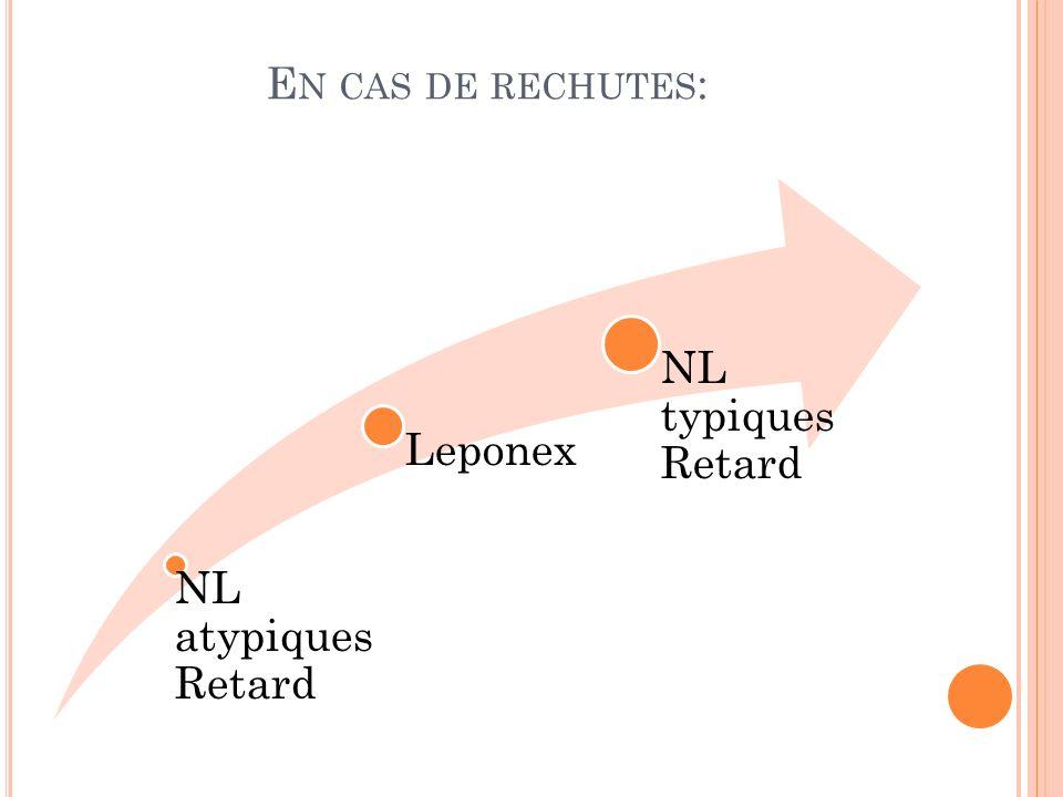 En cas de rechutes: NL atypiques Retard Leponex NL typiques Retard