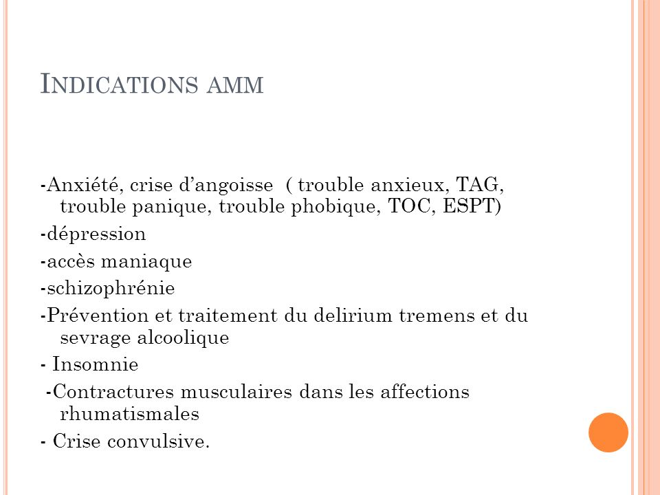 Indications amm