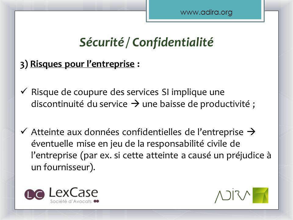 Sécurité / Confidentialité
