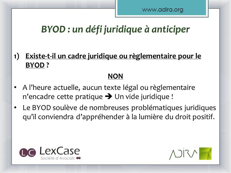 BYOD : un défi juridique à anticiper