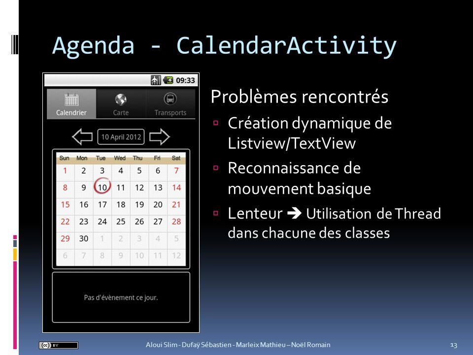 Agenda - CalendarActivity