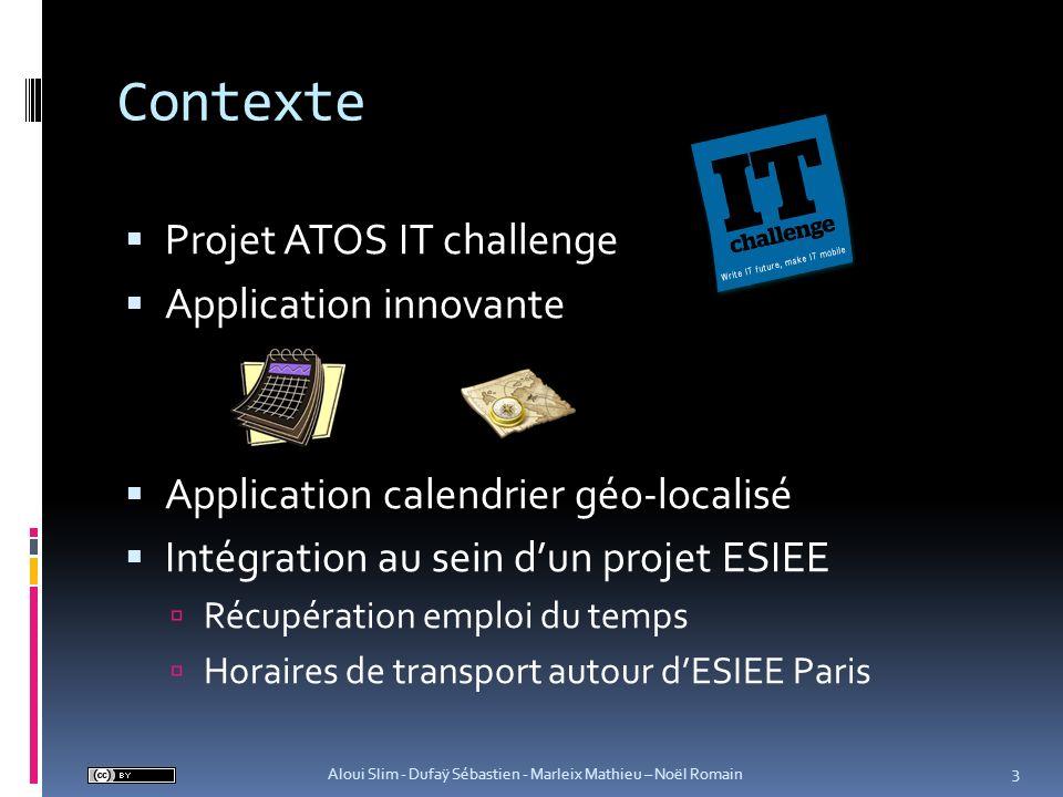 Contexte Projet ATOS IT challenge Application innovante