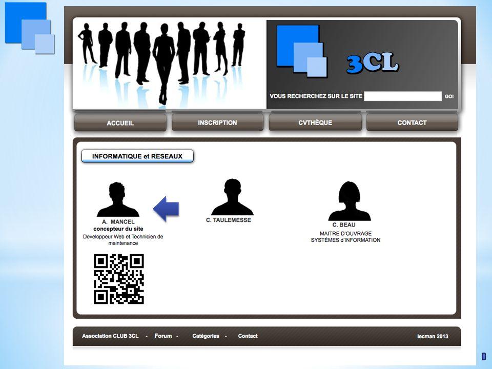 www.club3CL.com … et cet écran apparaît.