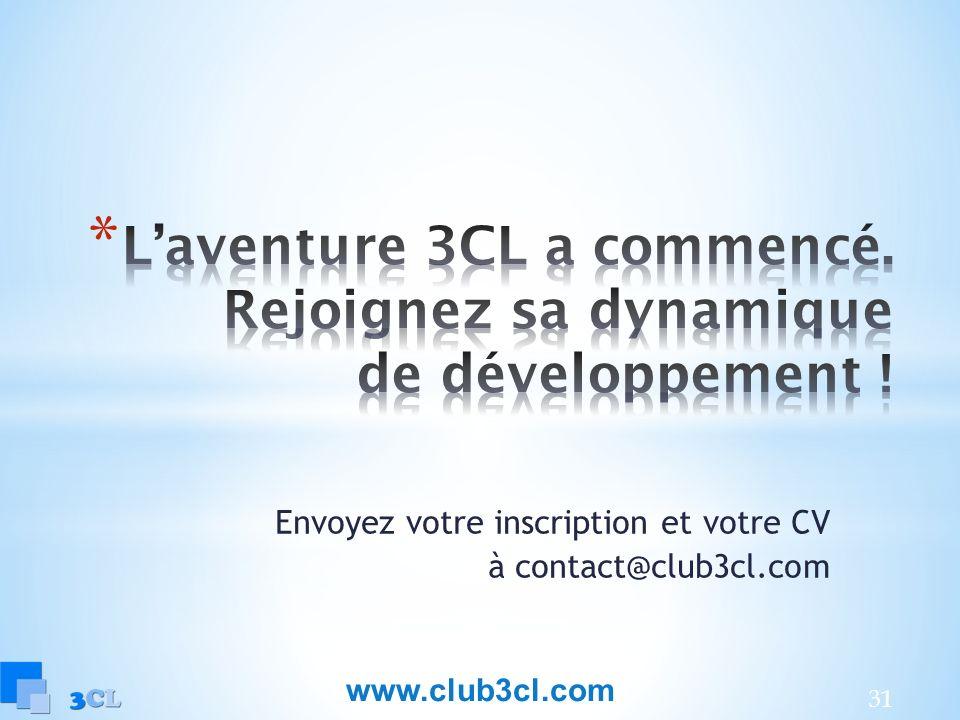 L'aventure 3CL a commencé. Rejoignez sa dynamique de développement !