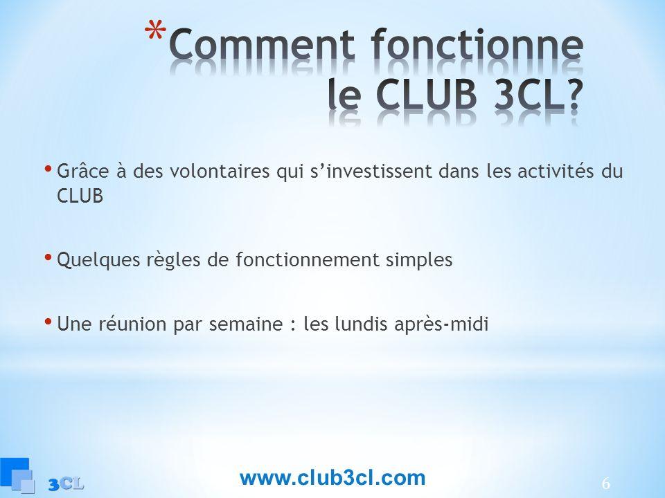 Comment fonctionne le CLUB 3CL