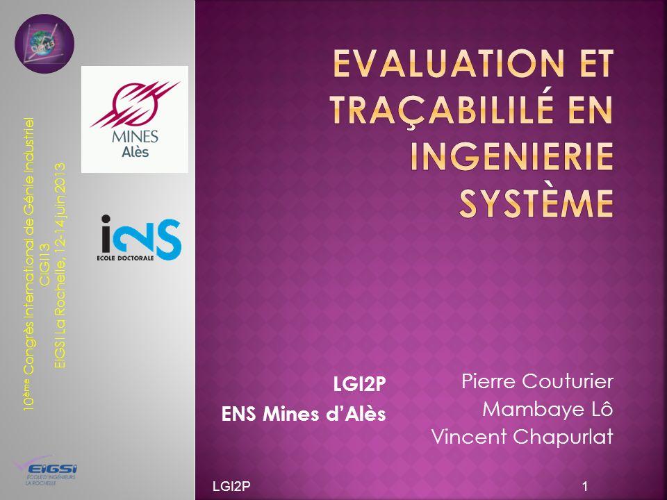 Evaluation et traçabililé en ingenierie système