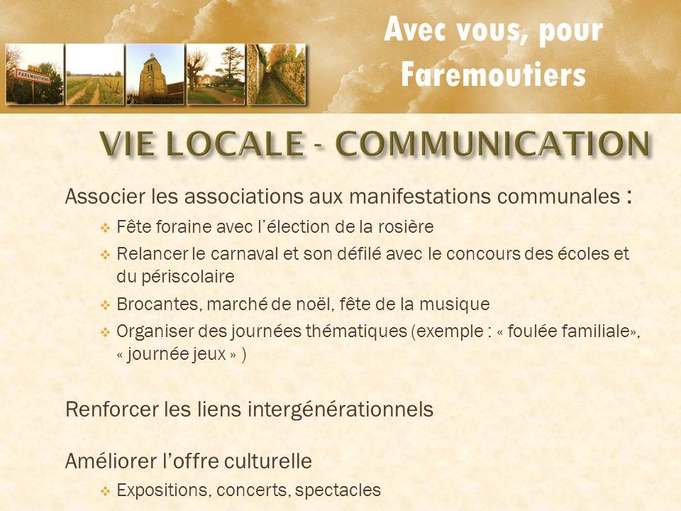 VIE LOCALE - COMMUNICATION